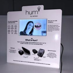 Giocatore di multimedia della video visualizzazione dell'affissione a cristalli liquidi di schiocco cartone/dell'acrilico