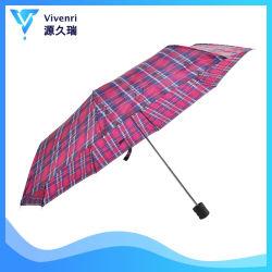 Commerce de gros manuel promotionnel ouvert 3 pliage parapluie de pluie