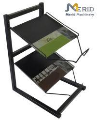 Metal personalizados Produto de estampagem de aço carbono Dobra Portátil Magazine Rack de exibição
