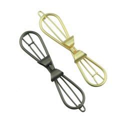 Or métal Bow Hair Clip Barrette Gun Metal Accessoires de cheveux pour les femmes et filles6798