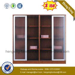 Boekenkast van uitstekende kwaliteit van China van de Boekenkast van het Bureau van de Deuren van het Glas de Houten (hx-4FL003)