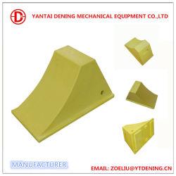Fabrikmäßig hergestellter Plastikgummi-Rad-Keil des LKW-10kg im Gelb