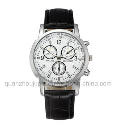 OEM Hot Sale Metal Wrist Quartz 시계 및 가죽 팔찌