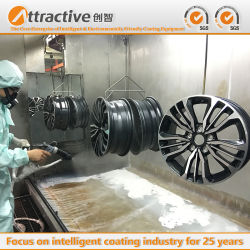 China stellt Qualitäts-Metalteil-Puder-Beschichtung-Geräten-Sprühproduktionszweig für Herstellungs-Automobil und Motorrad her