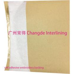 Selbstklebender Stickerei-Schutzträger mit Freigabe-Papier