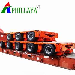 L'ingénierie lourde transporteur multi modulaire des essieux de remorque hydraulique de rotation