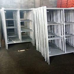 コンクリートスラブのための簡単で、容易な足場の金属の梯子の足場およびジャックの支承板の足場の調節可能なヘッドが付いている組積造