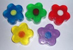 Природные красоты формы цветов прозрачного ручной работы туалет бар мыла для ванны