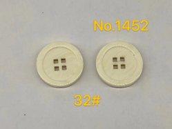 아이보리 4 구멍 플라스틱 단추 공상 셔츠 단추 의복 의복 부속품 단추