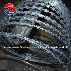 Bobine 700mm acier galvanisé ou inoxydable/PVC Peinture Razor Clips du fil barbelé concertina sur bande