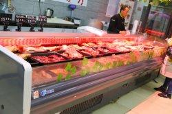 Plug-in de la viande fraîche l'écran ouvert Showcase Deli cas