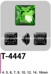 كريستال جلاس فانسي نقطة مرتخية العودة الأميرة مربع على شكل مجوهرات قطع الملابس الملحقة قطع حرز الحجر (T-4447)