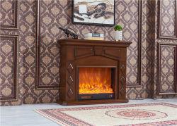 Flamme-Effekt-Kühler des Feuer-Platz-LED mit hölzerner Kaminsims-Einfassung
