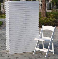 بيضاء راتينج [فولدينغ شير] /Plastic حديقة خارجيّة كرسي تثبيت [فولدبل] مع وسادة