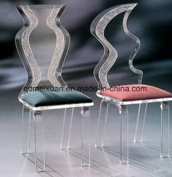 Les fabricants de sièges de ménage en acrylique de gros de la mode en verre organique High-Grade acrylique de siège arrière d'un président (M-X3564)