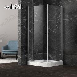 Sem caixilho da porta de dobradiça de vidro temperado Gabinete Chuveiro Quarto de Banho