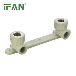 IFAN OEM-Support Kunststoff Doppel-Ellenbogen-Gewinde Kunststoff Rohrverschraubung Grauer PPR-Doppelbügel für Innengewinde