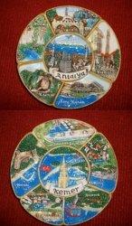 Placa de recuerdo para turistas de cerámica