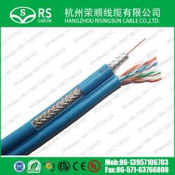 Combinação de segurança de rede RG6 com cabo UTP Cat5e/FTP/SFTP