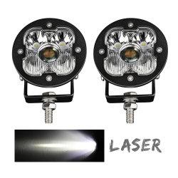 Super brillante Lux@1400m Coche 50W Mini 3 off road'' 4X4 Pulgadas LED láser niebla Luces de conducción para Motocicletas