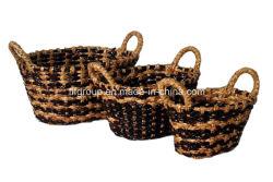 Écologique personnalisé Handmade Traités Panier de stockage de paille avec différentes tailles