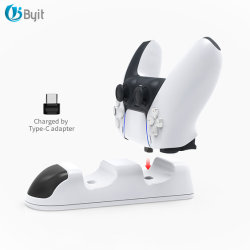 ByitアマゾンのPS5 Playstation 5 Dualsenseのコントローラ充満端末のための熱いデュアル・チャネルゲームのコントローラの充電器