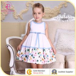 Frische Baby Bule Baumwollkittel, Sommer-Kind-Kleid