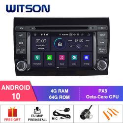 نظام صوت Wittson Android 10 Car DVD لـ FIAT Bravo GPS راديو WiFi متعدد الوسائط