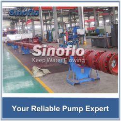 Pompa di pozzetto sommergibile dell'acqua non depurata della turbina verticale lunga dell'asta cilindrica del motore diesel