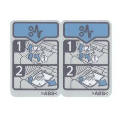 Étiquette imprimée en couleur de papier couché/PP/PET pour l'imprimante auto-adhésif signe : étiquette de l'imprimante