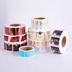 Impressão personalizada Etiquettes etiqueta do logotipo clara à prova de folha de ouro e auto-adesivo jarra de Cosméticos Etiqueta Redonda etiqueta autocolante do produto