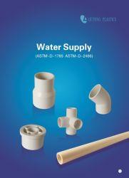 تركيبات أنابيب ASTM Sch40 البلاستيكية (UPVC) ASTM-D-2466 لمياه الإمداد (المرفق، التركيبة على شكل حرف T، المقبس، جلبة تقليل، إلخ)