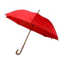 C incurvée de 23 pouces manche en bois droites parapluie pluie Ouverture automatique le logo OEM personnalisés