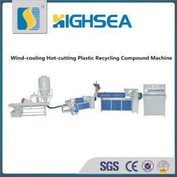 Granulador de reciclaje plástico del paso de progresión de la producción Line/Double (HSG-90)