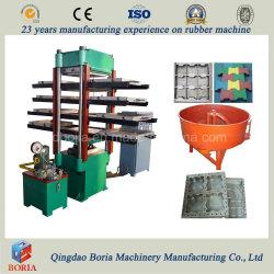 Gummi-Tile-Making-Maschine, Misch-Gummigranulat und Klebstoff