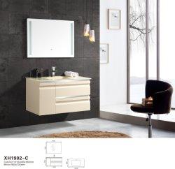 Moderne an der Wand befestigte materielle Bahroom Eitelkeit MDF-eingestellt mit LED-Spiegel