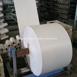 صاحب مصنع 100% كسا عذراء يطبع لف مسيكة بوليبروبيلين رافية أكياس بيضاء أنبوبيّ [بّ] يحاك بناء لأنّ حقائب