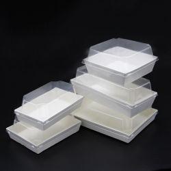 عالة طعام يعبّئ بيضاء سندويتش صندوق مع [غود قوليتي]