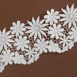 Bordados florais Leite Poly Lace guarnição de fita