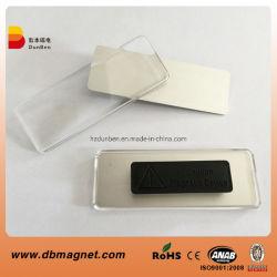 Couvercle en plastique Nom d'un insigne de l'Aimant magnétique