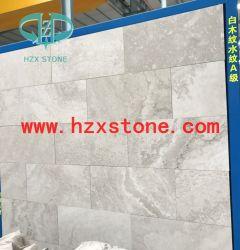 Corte transversal de mármol de madera blanca y madera de corte transversal de mármol de la vena