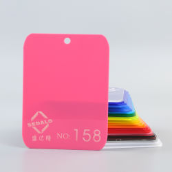 Cor-de-rosa (158) Folha de acrílico de fornecedor chinês para assinar