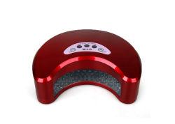Logotipo personalizar 12W interação Vermelho Lâmpada de gel UV, Moon Shape Secador de unhas UV portáteis para o Salão 8611