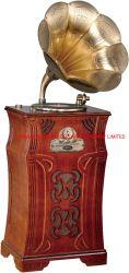 Lecteur Bluetooth de luxe en bois de gramophone phonographe de cas