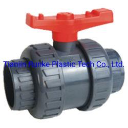 De Plastic ANSI JIS van de Kogelklep DIN van pvc van de Kogelklep van de Unie van pvc van de Kogelklep van de Unie van pvc van de Klep UPVC Ware Dubbele Norm van uitstekende kwaliteit