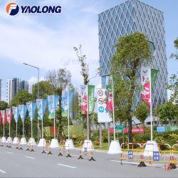 Im Freien anzeigende Möbel-Reklameanzeige-Befestigungsteil-Edelstahl-Fahnen-Markierungsfahne Pole