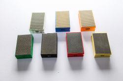 ダイヤモンドの紙やすりで磨くパッド、ダイヤモンド手のパッド、ダイヤモンドはパッドを浸透させた
