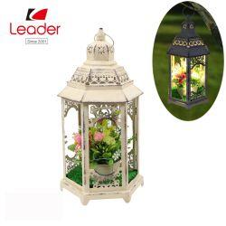 Металлические белые свечи фонарь со светодиодной лампы фонаря металла, металлическая сад фонари