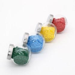 Granuli Di Plastica Antibatterica Blu Riciclata Per Vari Prodotti In Plastica