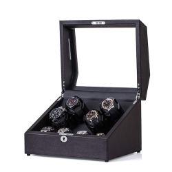 De Cuero marrón automático Rolex Watch Winder Caja con 4 bobinado de almacenamiento de 4